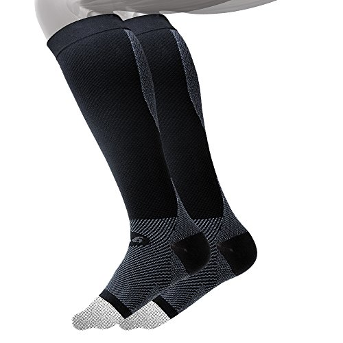 OS1st FS6+ Performance Athletic Foot-Calf Bracing Sleeve (One Pair) best protection for Plantar Fasciitis, Achilles Tendonitis, Shin Splints, Recovery, & Leg Fatigue