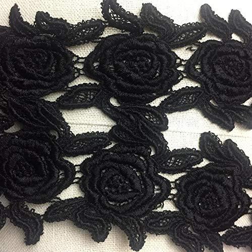 (Trim Lace Rose Venise Double Border Symmetrical 3.5