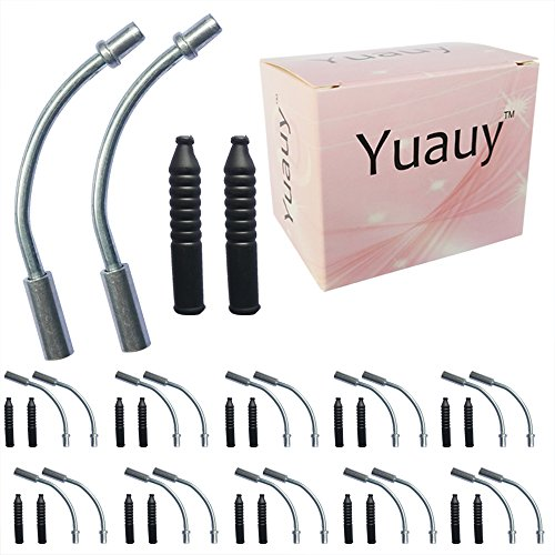 Yuauy 20 PCs 90° Liner V Brake Noodle Cable Guide Pipe Rubber Boot Bicycle Cycling Set