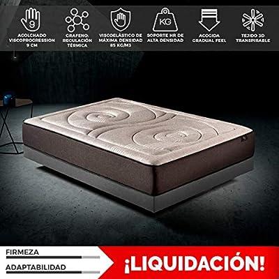 Komfortland Colchón 135x190 viscoelástico Memory Platinum de Altura 27 cm, 9 cm de ViscoProgression Grafeno de Alta Densidad (85 kg/m3)