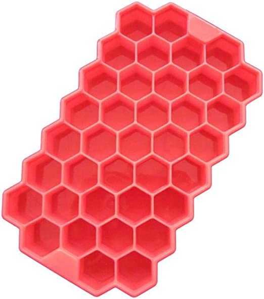 Moldes y bandejas para hielo,Nido de abeja de silicona Cubitos de ...