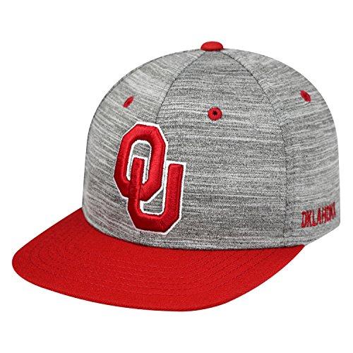 Oklahoma Sooners Hat (Top of the World NCAA-Backstop-Adjustable Snapback-Hat Cap-Oklahoma)