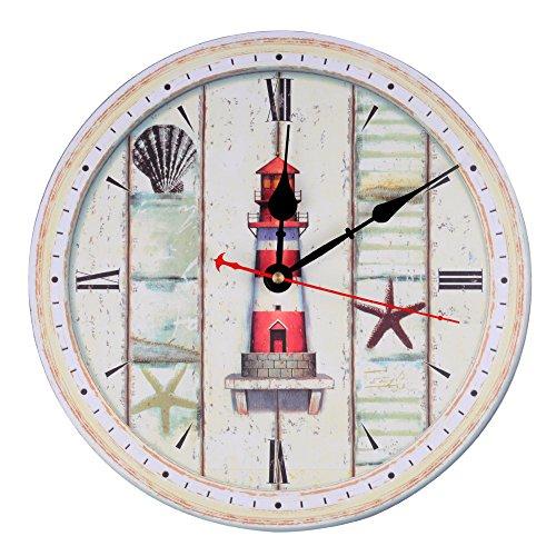 Cheap  KI Store Wall Clock Decorative Silent Wall Clock Non Ticking Ocean Theme..