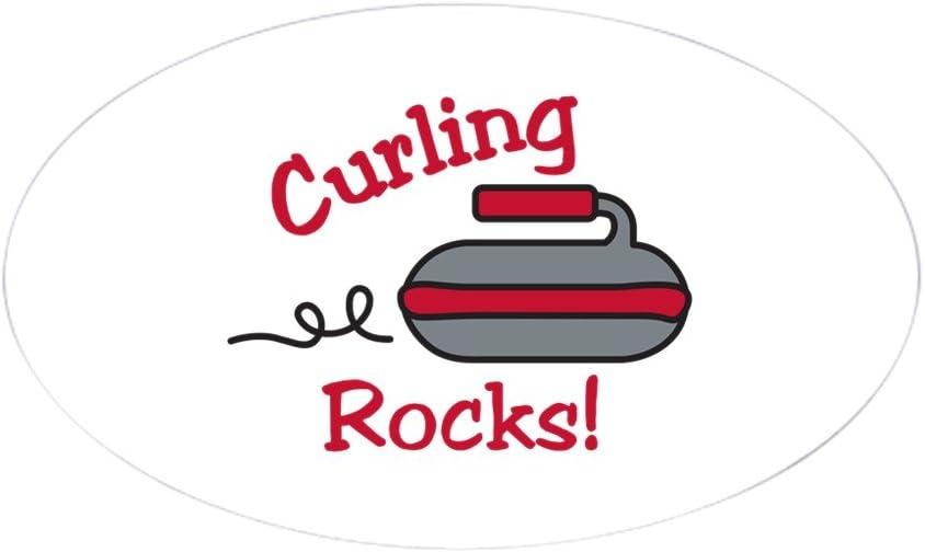 CafePress Curling Rocks Sticker Oval Bumper Sticker Car Decal