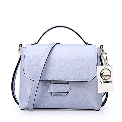 Yoome Women Handbag Bags Cowhide Bag Purses Cell Bags Leather Daily Phone for Blue Crossbody Shoulder Vintage rArw6Xq8