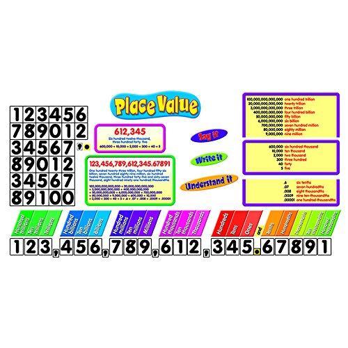 place value bulletin board set classroom materials