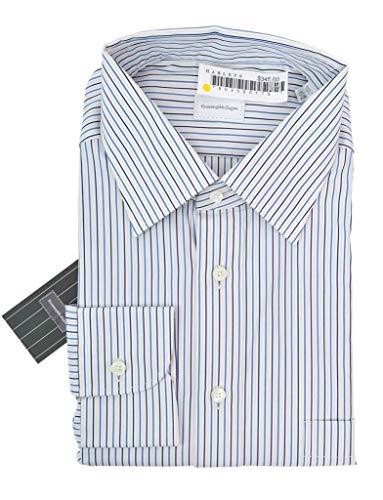 Ermenegildo Zegna White Striped Cotton Dress Shirt, used for sale  Delivered anywhere in USA