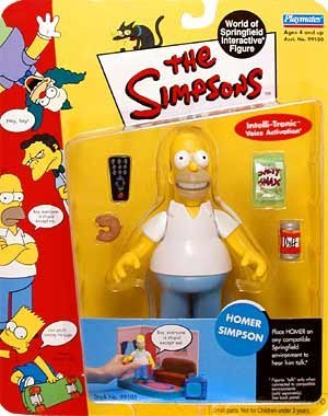 PlayMates The Simpsons Wave 1 Action Figure Homer Simpson