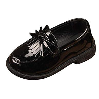 ZODOF Niños Niños Niñas Bowknot Borla de Cuero Formal Zapatos de Boda del Partido Vintage Calzado Ligero y Transpirables para Unisex Niños: Amazon.es: Ropa ...