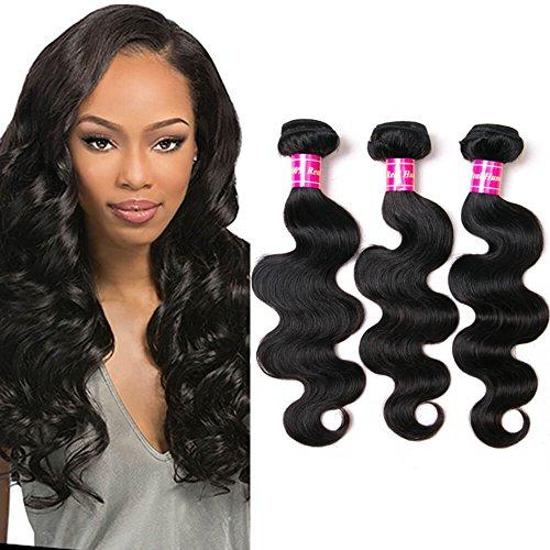 Aphro Hair Brazilian Virgin Human Hair Weave 3 Bundles 12 14 16 Inch Brazilian Body Wave Hair Weft Extensions Natural Color