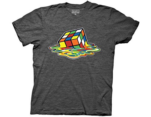 Ripple Junction Rubiks Cube Melting Cube Adult T-Shirt 2XL Heather Charcoal