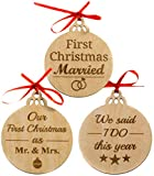 Best Gifts For Newlyweds - Set of 3 Gifts for Newlyweds Wooden Christmas Review