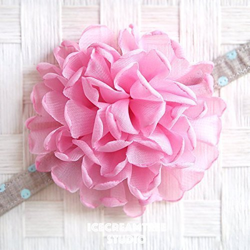 Giant Bloom Collar Slide On, Flower Collar Accessories, Corsage Accessories, Collar Add On - Light Pink