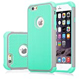 iPhone 6S Case, Jeylly(TM) [Shock Proof] Plastic Outer + Rubber Silicone Inner Scratch Absorbing Hybrid Rubber Plastic Impact Defender Rugged Slim Hard Case Cover Shell For Apple iPhone 6/6S 4.7