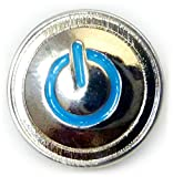 POWER ICON Turn Me On Computer Button Lapel Pin Tie Tack