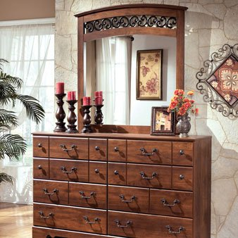 Ashley Furniture Timberline Large Bedroom Dresser Wooden Rustic Style