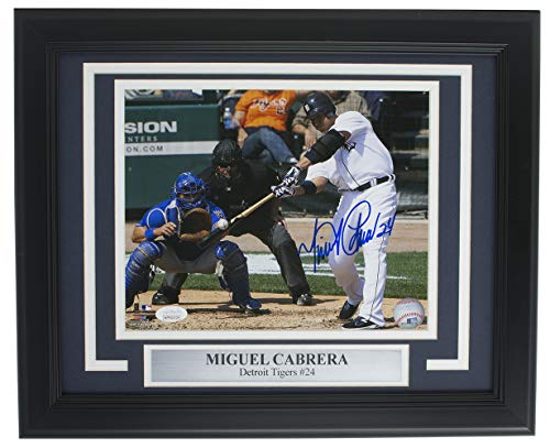 Miguel Cabrera Detroit Tigers Signed Framed 8x10 Batting Photo JSA