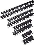 "Q24UA-Starcase.com 24U steel server rack rail with 3/8"" square holes, 2U-45U, EIA spacing"