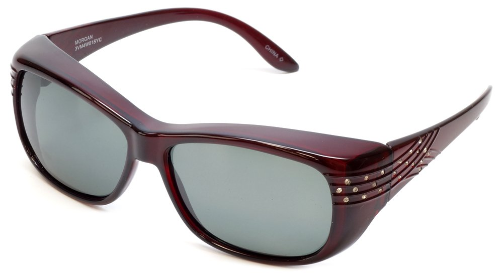 Haven Fitover Sunglasses Morgan in Wine Crystal Comet & Polarized Grey Lens