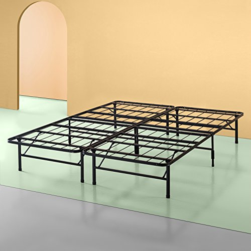 - Zinus Shawn 14 Inch SmartBase Mattress Foundation / Platform Bed Frame / Box Spring Replacement / Quiet Noise-Free / Maximum Under-bed Storage, Cal King
