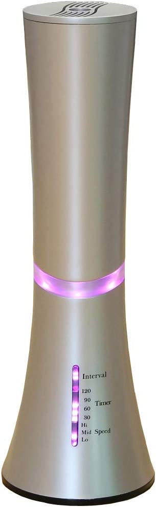 Carepeutic Aroma Nebulizer for Essential Oil Therapy Requires No Heat No Water, Silver