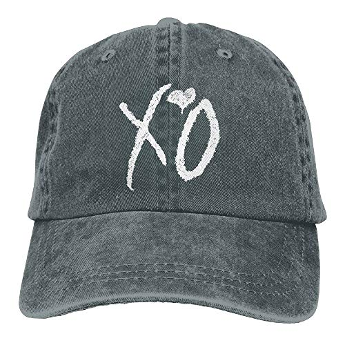 (Unisex Washed Retro Denim Hats XO The Weeknd Heart Truck Driver Hat Modern Adjustable Baseball Cap)