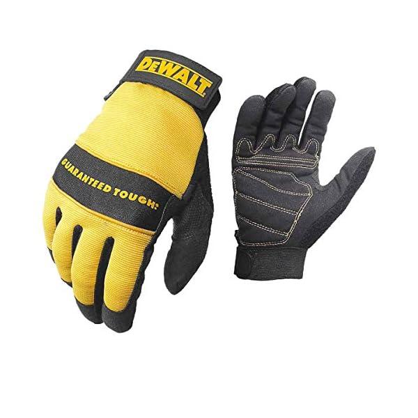 Dewalt DPG20M All Purpose Synthetic Leather Palm Spandex Back Velcro Wrist Work Glove, Medium 1