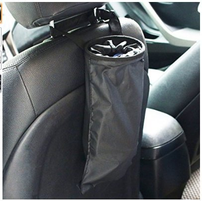 TopLove Car Trash Bags, Car Trash Can Washable Leakproof Eco-friendly Seatback Truck Hanging Car Garbage Bags for Travelling, Outdoor, Home and Vehicle Use - Street Oxford Loop