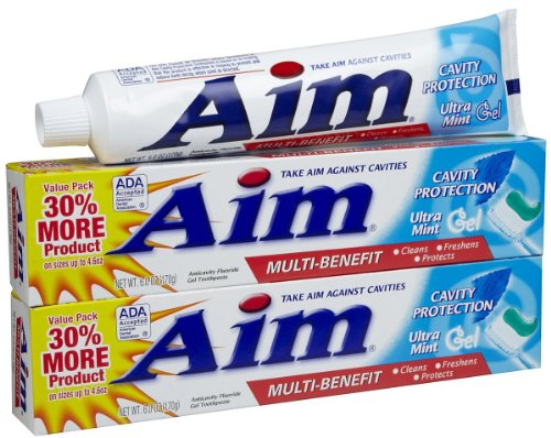 AIM Cavity Protection Gel Toothpaste, Mint - 6 oz - 2 pk ()