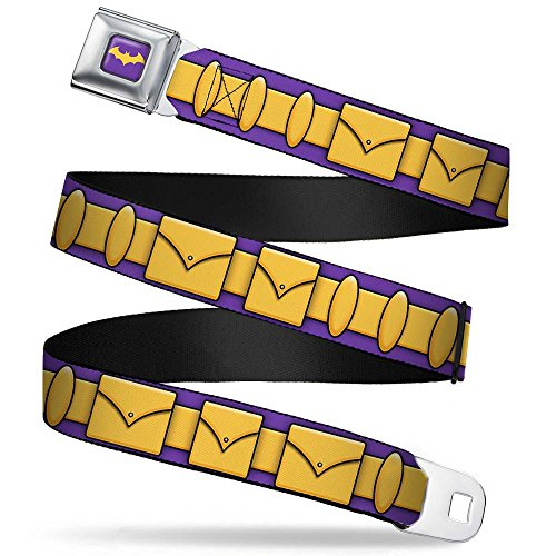 Batgirl Utility Belt Purple/gold Seatbelt Belt