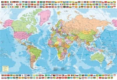 Map Of The World 1500 Amazon.com: Educa Children's 1500 Political Worldmap Puzzle: Toys