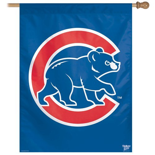 MLB Chicago Cubs 27-by-37-Inch Vertical Flag-Bear Chicago Cubs Vertical Flag