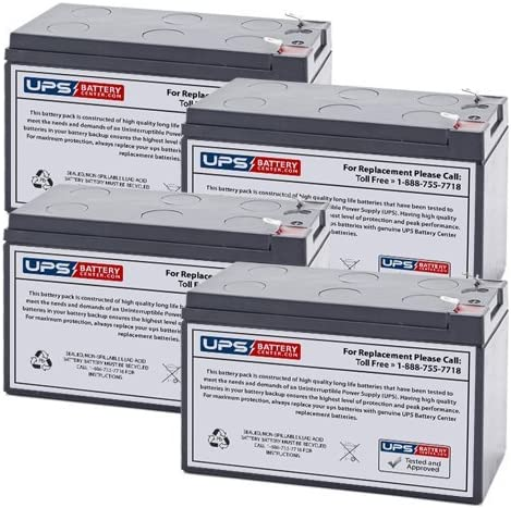 RB1290X4D Compatible Replacement Battery Set by UPS Battery Center