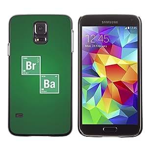 EJOY---Cubierta de la caja de protección la piel dura para el / Samsung Galaxy S5 / --Br Ba Química sesión