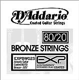 D\'Addario EXPBW025 EXP Coated 80/20 Bronze Single String, .025