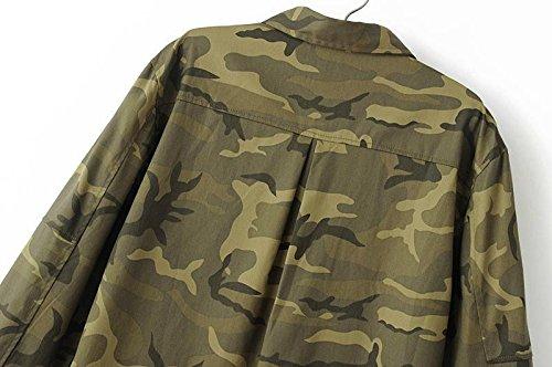 Amazon.com : 2016 Fashion Long Sleeve chaqueta militar ...