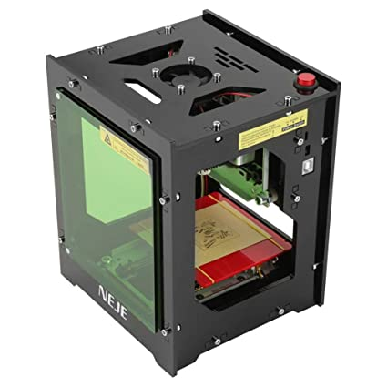 1500mw Laser Engraver Printer, NEJE DK-BL 550x550 Pixel High Resolution Art  Craft Science Industry High Speed Laser Engraving Cutter Mini USB Carver