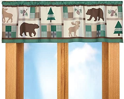 Collections Etc Woodland Moose And Bear Lodge Window Valance