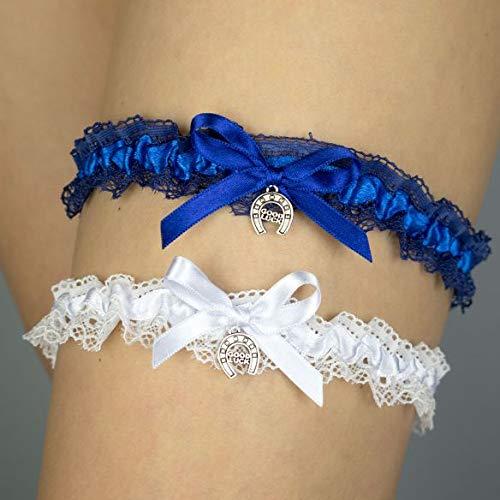 online retailer 46cd5 8b1a9 2x Strumpfband blau Hochzeit Braut Brautkleid Unterwaesche ...