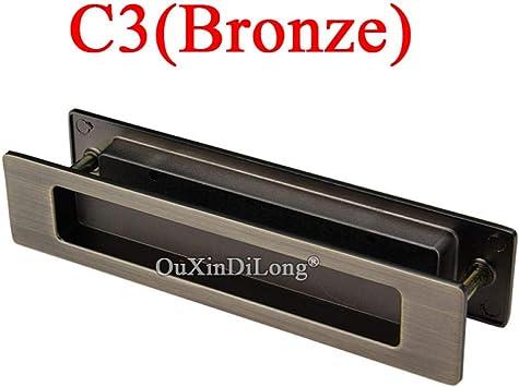Tirador empotrado de puerta corredera invisible empuñadura de puerta de madera oculta @ C3 (Bronce): Amazon.es: Bricolaje y herramientas