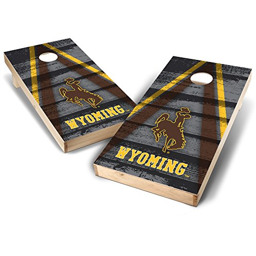 - NCAA Wyoming Cowboys Vintage Triangle Design 2' x 4' Authentic Cornhole Game Set, Team Color, 2' x 4'