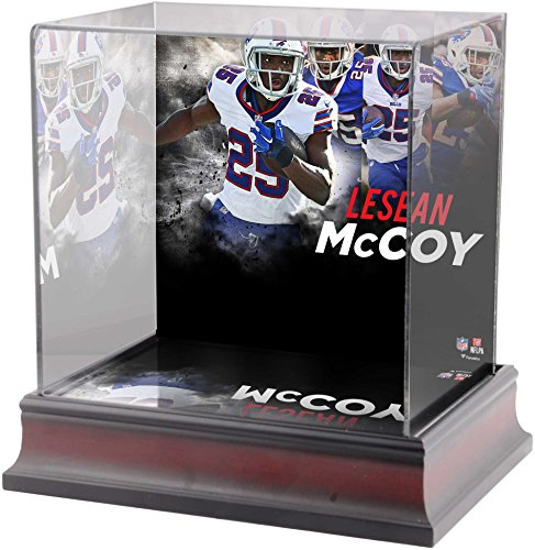 Buffalo Display Football Case (Sports Memorabilia LeSean McCoy Buffalo Bills Deluxe Mini Helmet Case - Football Mini Helmet Free Standing Display Cases)