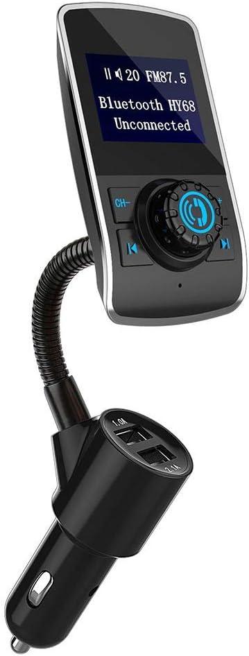 Deinbe HY68 Bluetooth Manos Libres para Coche Reproductor de MP3 USB inalámbrico Dual FM Auto Transmisor Reproductor de música