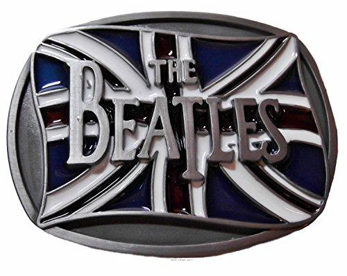 The BEATLES British Flag Metal BELT BUCKLE With Enamel ()