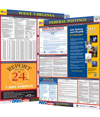 Osha4less West Virginia State and Federal Labor Law Poster Wv-Cb