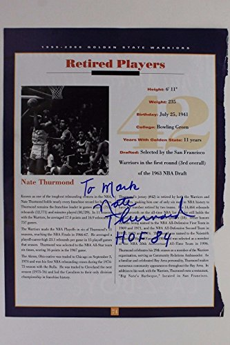 NATE THURMOND HOF Cavs Warriors Bowling Green Autograph Signed Magazine Page 16F by city-autograph