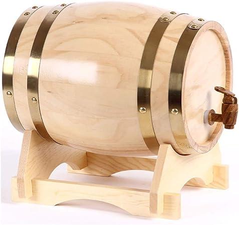 Opinión sobre SS mutong Barril de Roble Dispensador de Whisky Estilo de Barril de Roble de Madera for Almacenar Vino, Brandy, Whisky, Tequila Vino, Cerveza, Sidra, Whisky. (Color : D, Size : 5L)