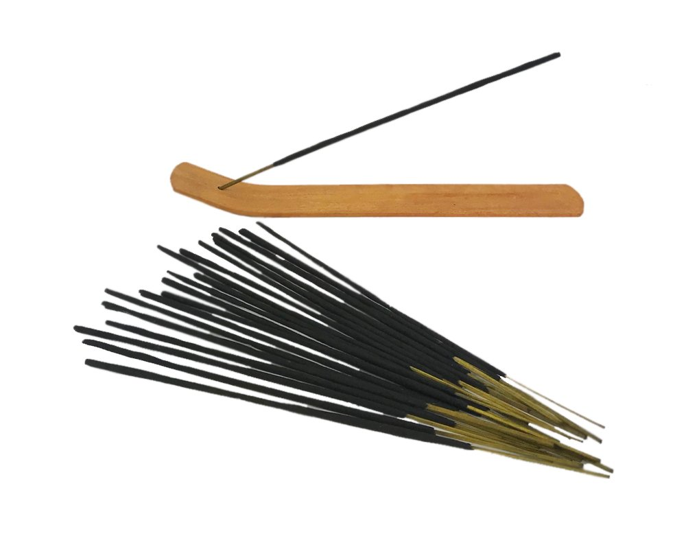 Astek 20 Sticks White Sage Smudging Incense Holder - Get Rid Ghost - Remove Negative Energy From Home - Spirits Repellent Kit