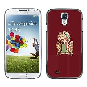 // PHONE CASE GIFT // Duro Estuche protector PC Cáscara Plástico Carcasa Funda Hard Protective Case for Samsung Galaxy S4 / Sexy Pin Up Mari0 Princess Peach /
