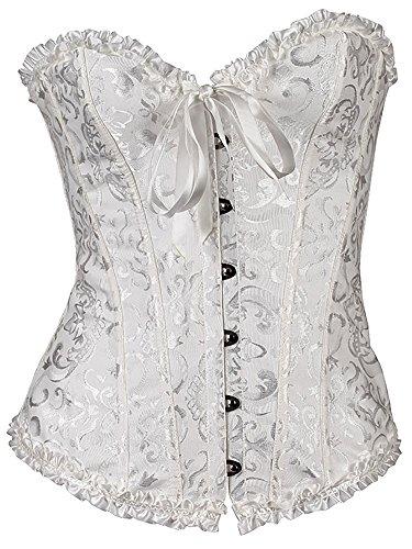 GSHappyGo-Womens-Lace-Corset-Strapless-Wedding-Dress-Corset-Bustiers-Cincher-White-6XL